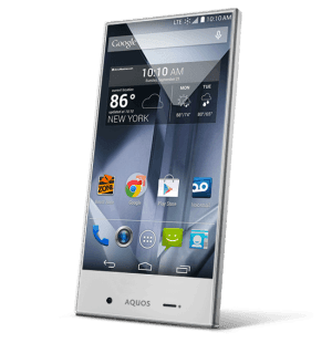 Sharp Aqueous Crystal cellphone